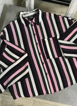 Рубашка 38 s/m в полоску