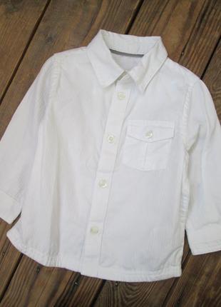 Белая рубашка mothercare на 9-12 мес., рубашка на праздник