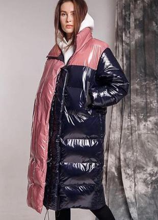 Экслюзивная куртка зимняя дутая пуховик премиум необычная