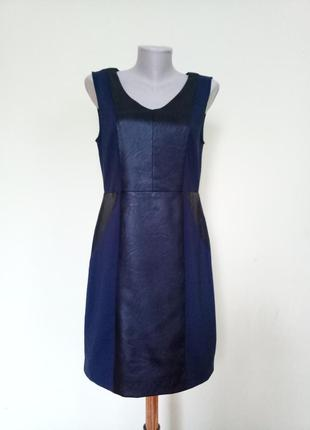 Шикарное платье с вставками из кожи