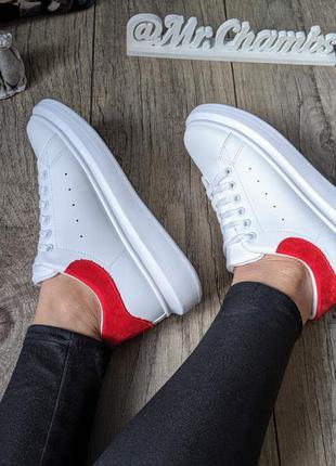 Женские белые кроссовки кеды
