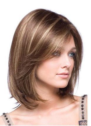 Темно-русый парик с мелированием. новый  #розвантажуюсь