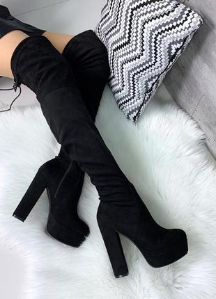 Шикарные ботфорты чулок деми на высоком каблуке
