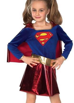 Карнавальный костюм детский сапергероиня супер девушка super girl