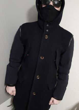 Кашемировое пальто zara man с балоновыми рукавами и обнанка в ...