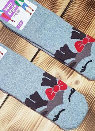 """Носки молодежные махровые """"милашка олень"""", размер 35-37"""
