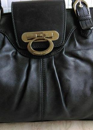 Кожаная брендовая   большая сумка саквояж