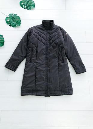 Удлиненное демисезонное пальто пуховик на синтепоне adidas