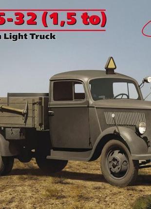Сборная модель ICM немецкий легкий грузовой автомобиль второй ...
