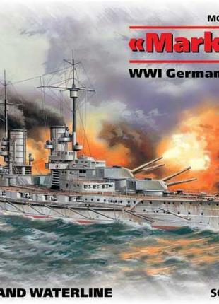 Сборная модель ICM немецкий линейный корабль IМВ Markgraf (482...