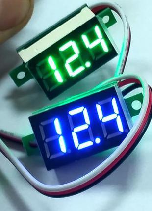 Цифровой вольтметр 0-99В, трехпроводной