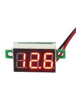Цифровой вольтметр 4.7-30В, красный