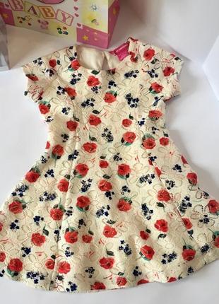 Обалденное брендовое цветочное платье