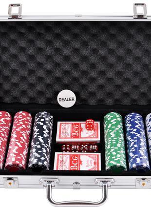 Покерный набор в алюминиевом кейсе на 300 фишек №300