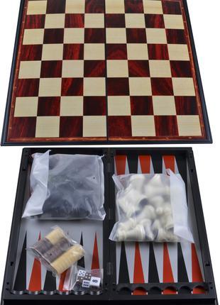 Набор 3в1 Нарды, Шахматы, Шашки (Магнитные, 30х30 см) №47710