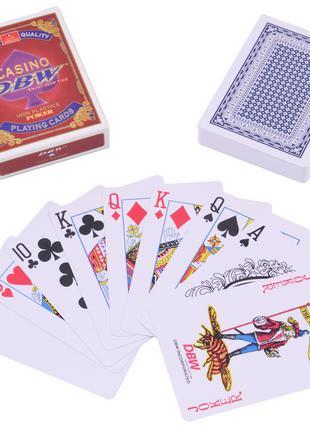 Карты пластиковые Casino DBW (54 шт) №408-30-2