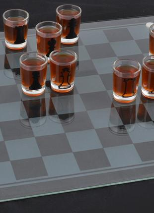 Алко Шахматы-рюмки (35х35 см, стекло) №086м