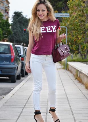 Geek удлиненная футболка винного цвета  - акция 1+1=3 в подарок 🎁