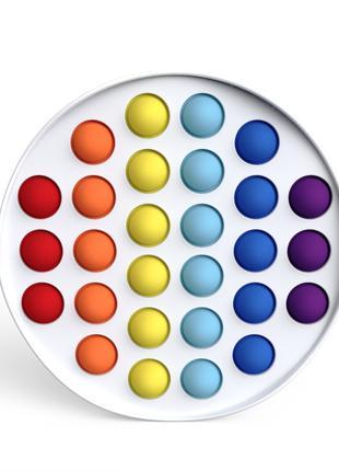 Антистрес іграшка Pop It Білий круг пупырка 5116