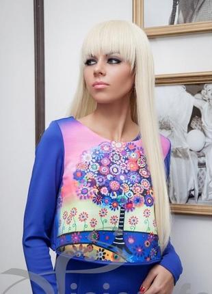 Трендовое стильное платье комплект 2ка с топом
