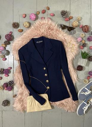 Актуальный винтажный шерстяной пиджак жакет блейзер #25 st. john