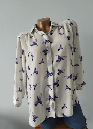 Блуза в птичках