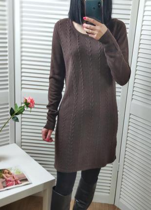 Платье/свитер коричневое tu, p-p uk 12