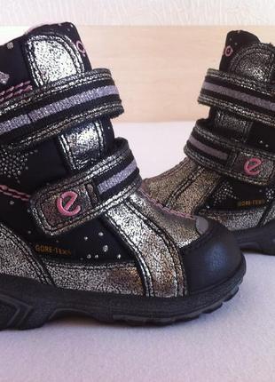 Зимние ❄️сапоги ,ботинки ecco с мембраной gore-tex ❄️размер 20