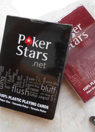 Карты игральные Poker Stars пластиковые