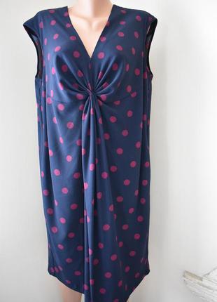 Стильное платье в горох большого размера marks & spencer