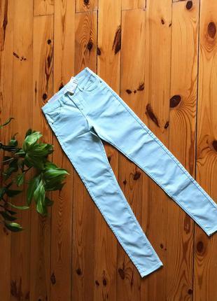 Узкие брюки скинни h&m мятные. 36/6/xs