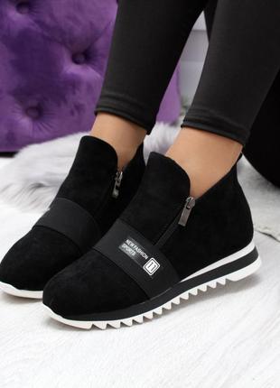 Стильные черные ботиночки