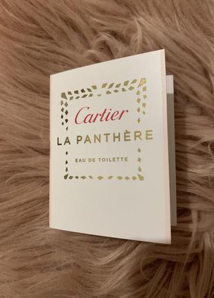 Туалетная вода cartier la panthere пробник