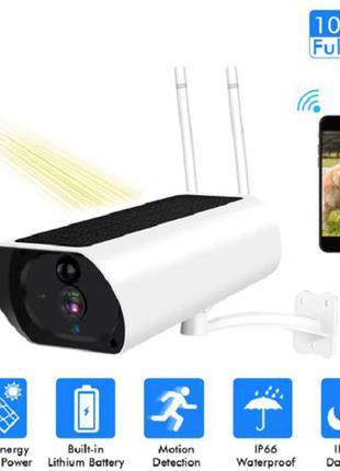 Беспроводная IP камера видеонаблюдения с солнечной батареей Wi...