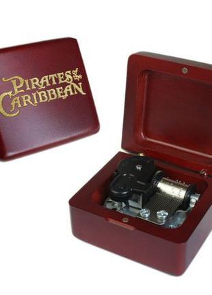 Заводная механическая музыкальная шкатулка Пираты Карибского моря