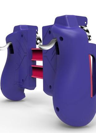 Геймпад фиолетовый Seuno MK-47 триггеры pubg джойстик телефона...