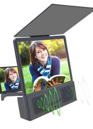 Подставка увеличитель экрана телефона с bluetooth колонками Se...