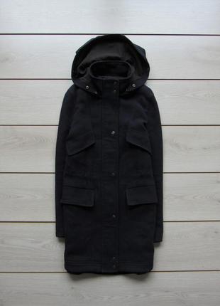 Пальто с капюшоном под парку от zara