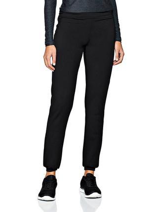 Удобные спортивные штаны на манжете с высокой талией р.16