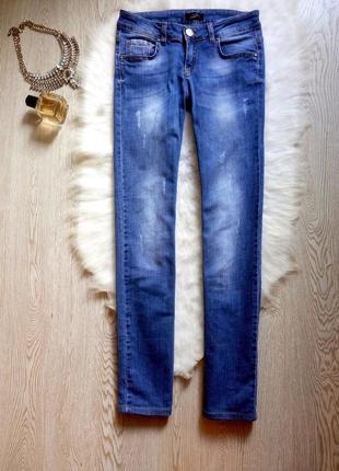 Синие голубые светлые прямые джинсы трубы стрейч брендовые giu...