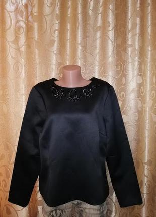 🎀🎀🎀красивая новая женская черная кофта, блузка 18 р. autograpf🔥🔥🔥