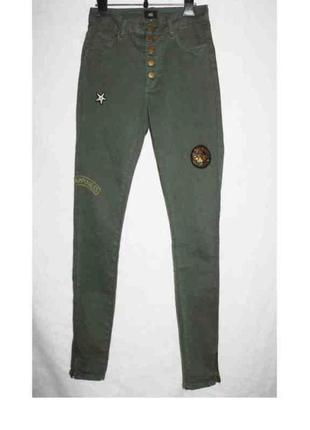 Крутые скинни джинсы стрейч высокая талия на пуговицах yes or ...