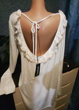 Платье с интересной спинкой 52-54р