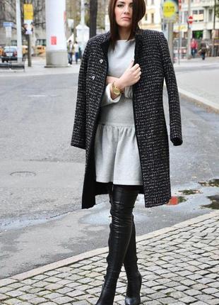 Брендовое шерстяное демисезонное пальто с карманами autonomy э...