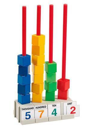 Набор для счета Gigo Кубики на стержнях, 2 см (1127)