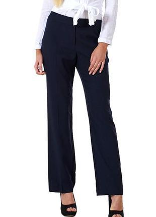 Распродажа! удобные темно-синие брюки со стрелками р.16
