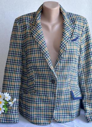Брендовый пиджак жакет блейзер с карманами tu вьетнам акрил ше...
