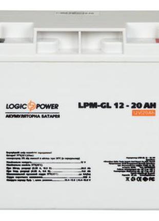 Батарея к ИБП LogicPower LPM-GL 12В Гелиевый аккумулятор 20Ач ...