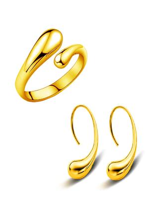 Набор кольцо и серьги abbelin p203