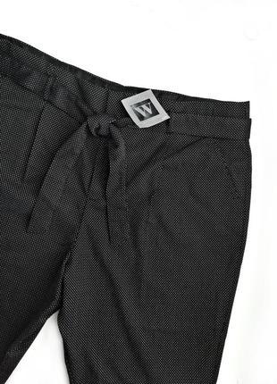 Трендовые высокие черно-белые брюки с поясом р.20-22